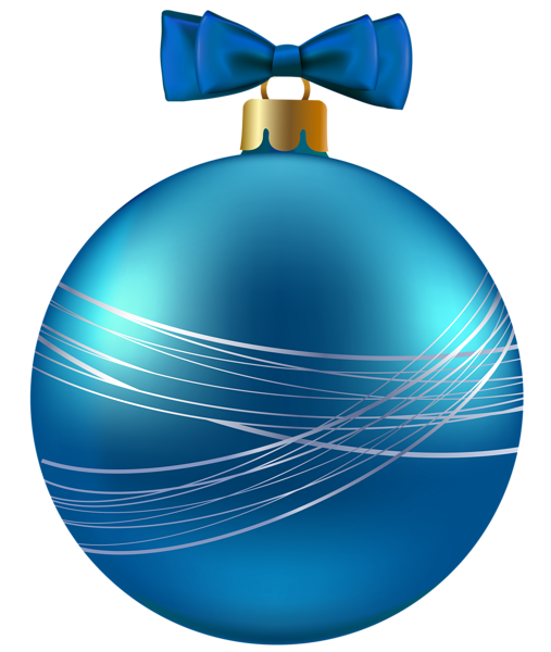 Blue Christmas Ornament PNG Clipart Image